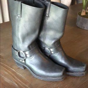 Frye Black Harness Boots Size 9 M. Excellent